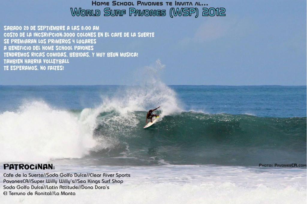 PavonesCR.com - WSP World Surf Pavones 2012 - Pavones Surf Competition